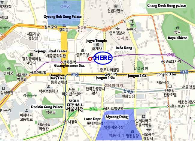 Seoul Hostel Location Seoul Map